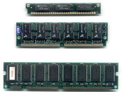 Module ของ RAM ชนิดต่างๆ