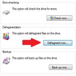 วิธีทำ Defrag ใน Windows 7