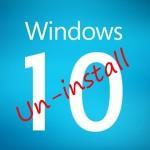 Windows 10 Uninstalling