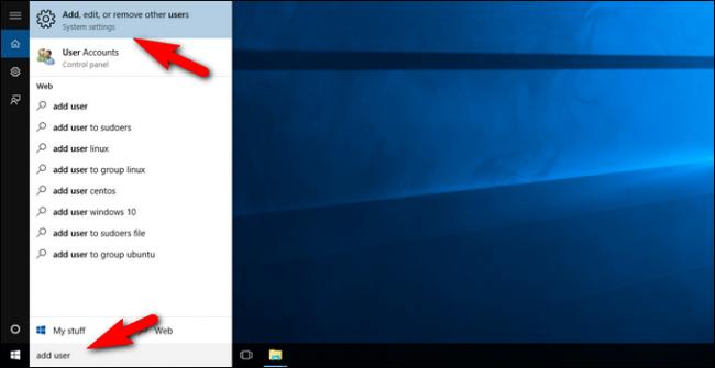 สร้าง User บน Windows 10