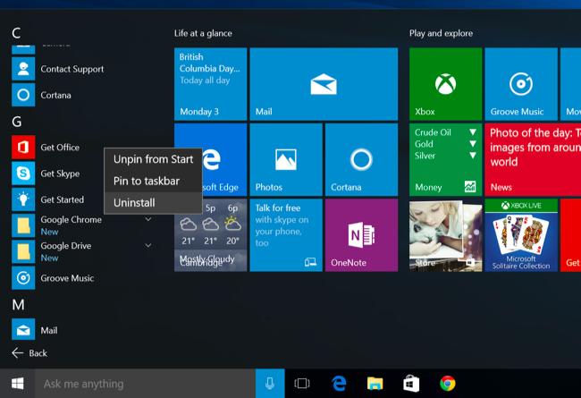 วิธีการลบแอปพิเคชั่นบน Windows 10