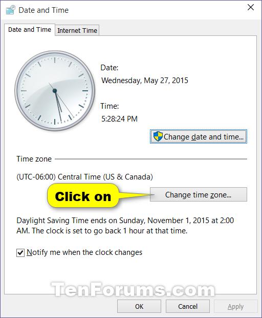 วิธีการเปลี่ยน Time Zone ใน Windows 10