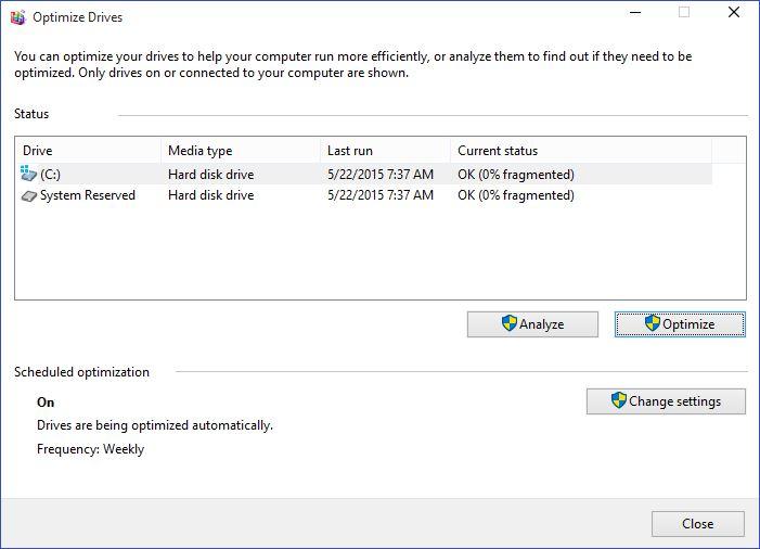 วิธีการทำ Defragment บน Windows 10